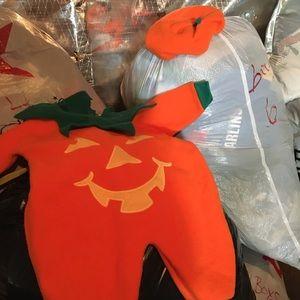 Pumpkin Halloween costume.